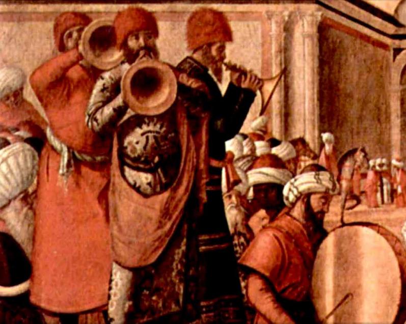 Dettaglio da Il battesimo dei Seleniti (1507?) di Vittore Carpaccio