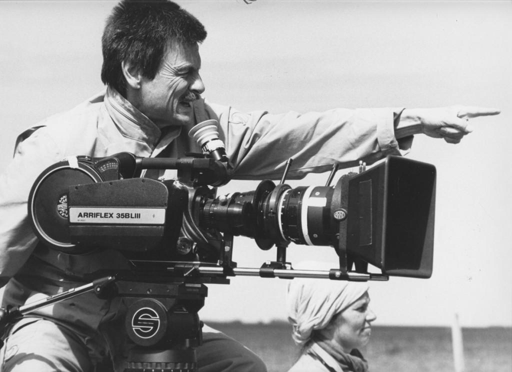 Andrej Tarkovskij sul set del film Sacrificio.