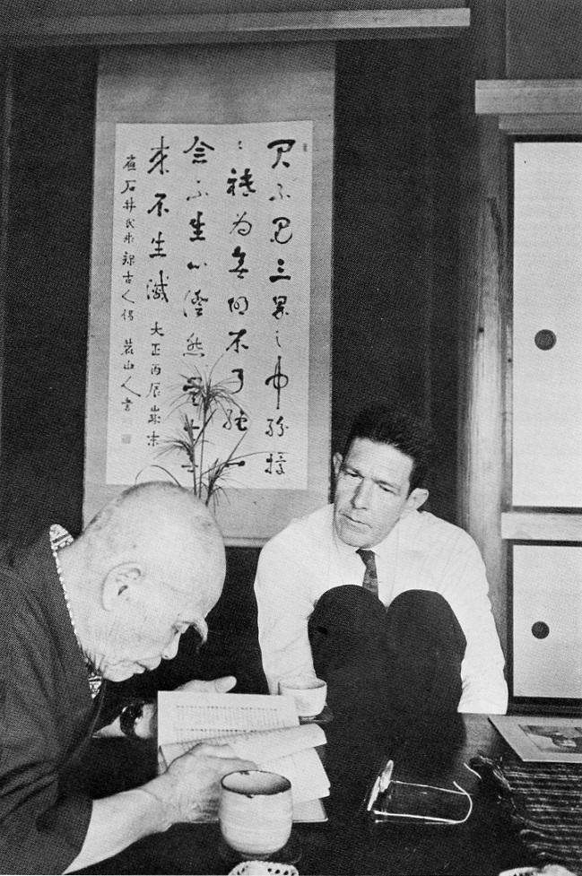 D.T. Suzuki e John Cage, 1962, Giappone
